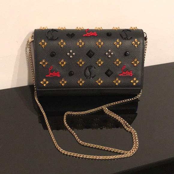 Christian Louboutin Handbags - CHRISTIAN LOUBOUTIN PALOMA EMBELLISHED CLUTCH